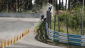 Шокуюча аварія Дорошенка на 4-му етапі UASBK / The crash on the motoracing UASBK