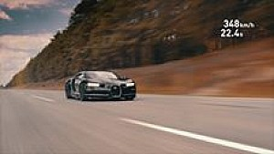 Montoya met Bugatti Chiron van 0-400 km/u