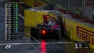 2017 Singapur GP -  Kvyat-Magnussen Geçişi ve Kazası