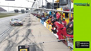 Pit road penalty adds to tough beginning to stage 2 for Kyle Busch