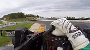 Visor cam: Spencer Pigot at Road America in the 2018 Indycar