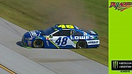 Johnson cuts tire, spins before making practice lap