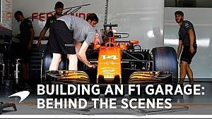 Building a Formula 1 garage | Behind the scenes