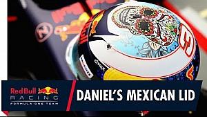 El casco de Daniel Ricciardo para el GP de México
