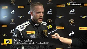 Lamborghini Super Trofeo World Final AM+LC Race 1 - Interview with Miro Konopka