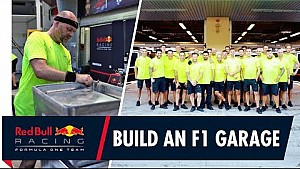 Así se construye un garaje de F1 | Red Bull Racing, GP de Abu Dhabi