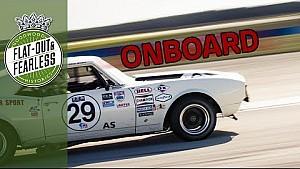 Growling Chevrolet Camaro battles Lola T70s and GT40s at Sebring
