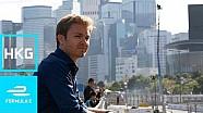 Nico Rosberg visita la Fórmula E en Hong Kong