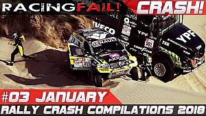 Dakar 2018 special week 3 rally crash compilation