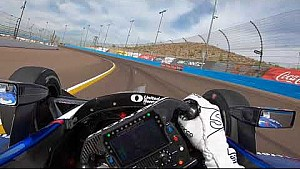 Visor cam: Graham Rahal open test at ISM raceway 2018