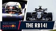 Red Bull RB14 piste çıktı