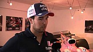 Sergio Perez on becoming a father, driving with the Halo and more with Sky Sports news