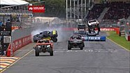 Wild Stadium Super Trucks spin in Adelaide