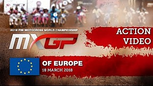 Duelo Davy Pootjes-Hunter Lawrence y accidente - MXGP de Europa 2018