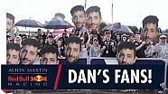 Los fanáticos de Daniel Ricciardo muestran su apoyo en el Gran Premio de Australia