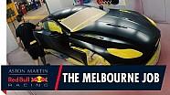 De custom Aston Martin DB11 van Verstappen en Ricciardo