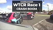 Carrera 1 choque, WTCR Marrakech primera carrera para Tom Coronel y Boutsen Ginion