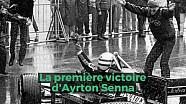 La première victoire d'Ayrton Senna