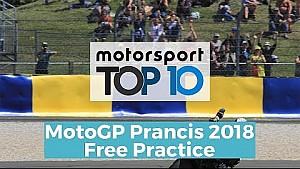 Top 10 Highlights Free Practice | MotoGP Prancis 2018