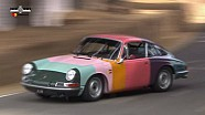 Rainbow-Colored Porsche 911 Goes Wild On Goodwood Hill