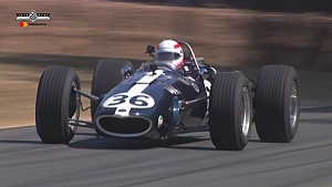Martin Brundle drives Dan Gurney's Eagle Mk1 at Goodwood